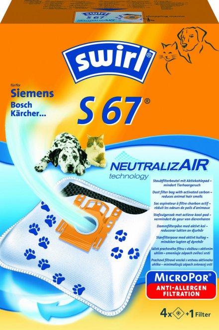 10 Staubsaugerbeutel Economy geeignet für Swirl  S 67